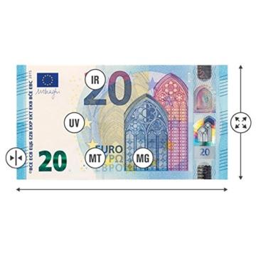Automatisches Geldscheinprüfer falschgeld erkennen