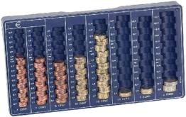 Münzzählbrett für alle Euro- und Cent-Münzen
