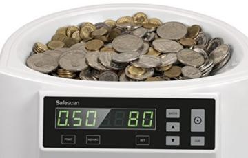Safescan 1250 - Automatischer Münzzähler und Sortierer für CHF - 4