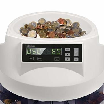 Safescan 1250 geldzählmaschine - automatischer münzzähler und sortierer für Euro Münzen - 2