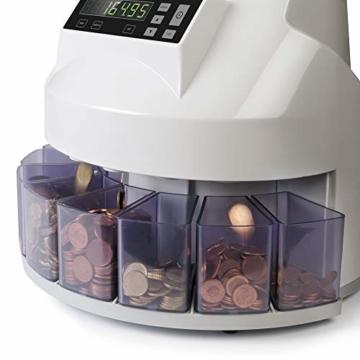 Safescan 1250 geldzählmaschine - automatischer münzzähler und sortierer für Euro Münzen - 7